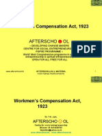 Workmen's Compensation Act, 1923