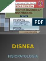 SEMIOLOGIA DE DISNEA