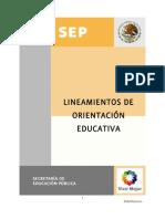 LINEAMIENTOS DE LA ORIENTACION EDUCATIVA