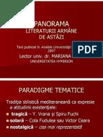 PANORAMA LITERATURII ARMÂNE  DE ASTĂZI
