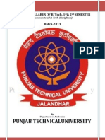 PTU 1st Year B.Tech Syllabus