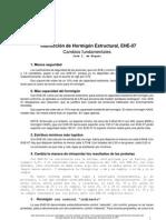 Nueva EHE - Comentarios J L De Miguel Julio 2008