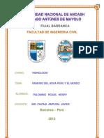Ranking Del Agua Del Peru Unido