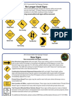 Snow mobile signs