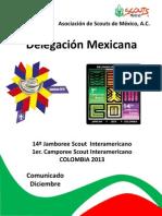 Comunicado diciembre delegación mexicana