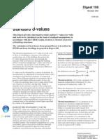 standard u values