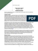 Public Policy Update 12-21-12