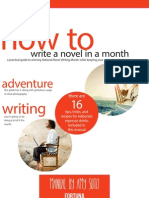 How to Write a Novel in a Month