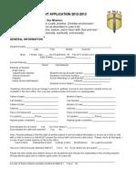 wmcs student application 2012