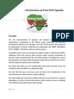 African Youth Declaration on Post-2015 Agenda
