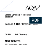 AQA Chemistry GCSE Unit 1 Mark Scheme June 12