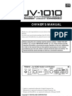 JV-1010 User manual