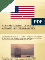 El Establecimiento de Las 13 Colonias Inglesas En