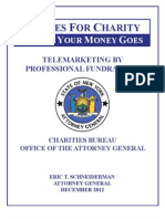 State Attorney General's report on charities