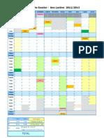 Calendário escolar 20122013