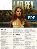 Lana Del Rey - Digital Boocket - Born To Die - The Paradise Edition