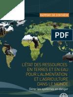 L'État des ressources en terres et en eau  (Fr)