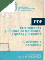 Normas para muestreos y pruebas de materiales