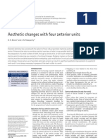 Aesthetics Changes With Four Anterior Units