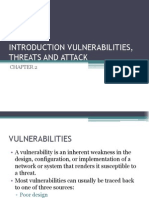 Chapter 2 - Introduction Vulnerabilities, Threats and Attack