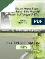 Ampas Sagu Sebagai Bahan Baku Produksi Protein