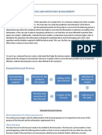 DEMAND FORECAST PROCESS AND INVENTORY MANAGEMENT