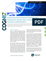 Assessing the European Commission's Proposal to Revise the Clinical Trial Directive (2001/20/EC)