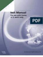 SLEP test manual