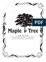 Maple Tree Menu