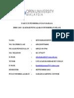 Tugasan Pendidikan Islam Hbis1103-Ustazah Siti Eshah Salleh