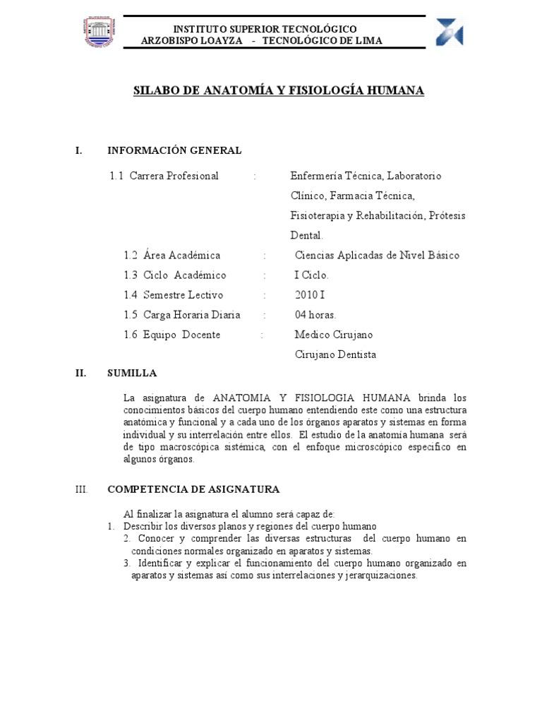 Anatomia y Fisiologia Humana 2010