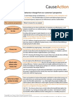 Energy Efficiency Behaviour Change Planning Checklist