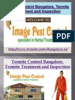 Termite Control Bangalore, Termite Treatment and Inspection - Imagepestcontrol