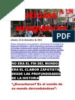 Noticias Uruguayas sábado 22 de diciembre del 201