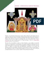 A Devotional Land of Tirumala