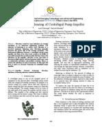 Dynamic Balancing of Centrifugal Pump Impeller