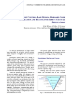 INTEGRATED FLIGHT CONTROL LAW DESIGN, ONBOARD CODE GENERATION AND TESTING FOR SAFETY CRITICAL APPLICATIONS