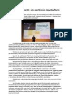 Une conférence époustouflante de Bruno Parmentier sur l'agriculture