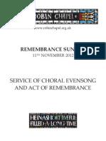 Remembrance Sunday, 2012.