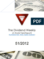 Dividend Weekly Stock Report 51/2012 By http://long-term-investments.blogspot.com