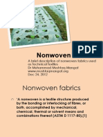 Non Woven Products and Production