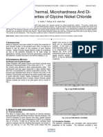 Studies on Thermal Microhardness and Di Electric Properties of Glycine Nickel Chloride