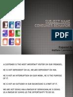 Consumer Behaviour-Internal Factors
