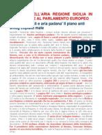 Il Piano Dell'Aria Regione Sicilia in Discussione Al Parlamentoi Europeo