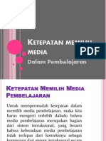 Power Point Ketepatan Memilih Dalam Media Pembelajaran
