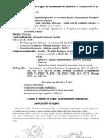 Principiile şi regulile de tragere cu armamentul de infanterie şi armamentul de pe masinile de luptă