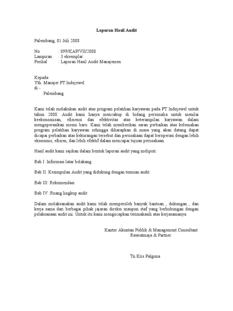 Contoh Kasus Audit Manajemen