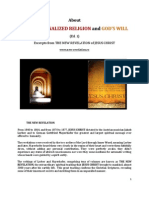 Brochure - NEW REVELATION - ABOUT INSTITUTIONALIZED RELIGION AND GOD'S WILL - ed 1