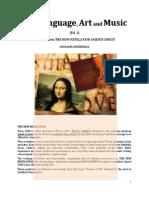 Brochure - NEW REVELATION - ABOUT LANGUAGE, ART AND MUSIC - ed 1