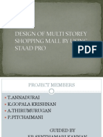Design of Shopping Mal by Using Staad Pro